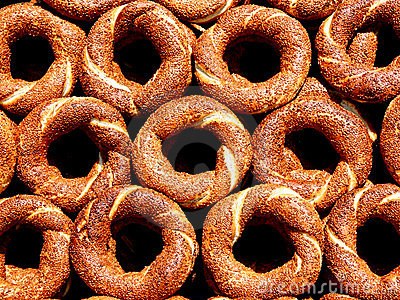 Bagels as background