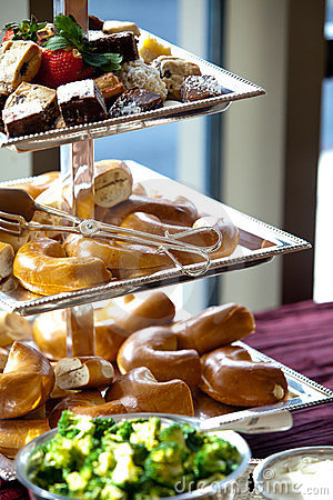 Bagels during a catered event