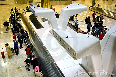 Baggage belt at airport