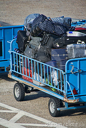 Baggage trolley at airport