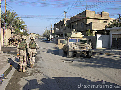 Baghdad Patrol Editorial Stock Photo