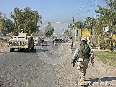 Baghdad Patrol Editorial Image