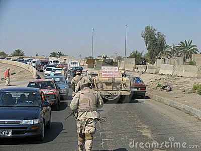 Baghdad Patrol Editorial Photo