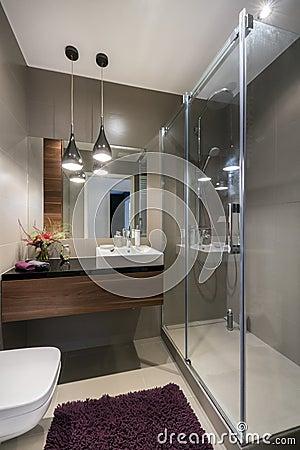 Bagno di lusso moderno con la doccia foto stock – 194 bagno di ...
