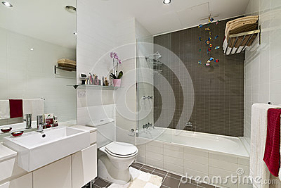 Bagno Moderno In Appartamento Di Lusso Fotografia Stock - Immagine: 50815772