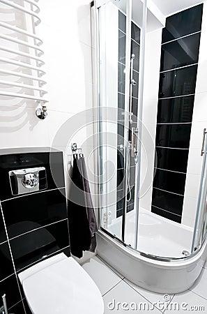 Bagno in bianco e nero fotografie stock immagine 29896943 - Bagno bianco e nero ...