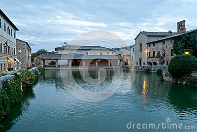 Bagno Vignoni Hot Springs, Thermal Waters, Tuscany Stock Photography - Image: 27734882