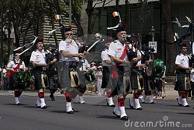 Bagpipe band Editorial Stock Photo
