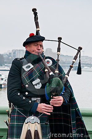 The Bagpiper Editorial Stock Photo
