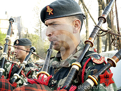 Bagpiper Editorial Stock Image