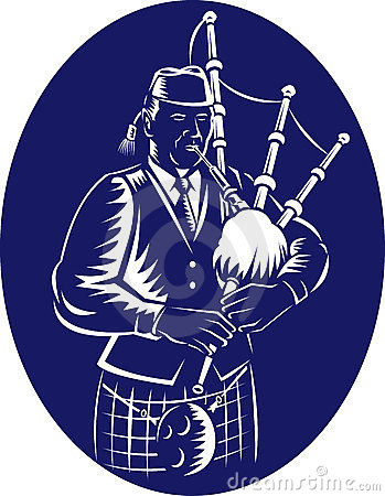Bagpiper Scottish Great Highland Bagpipe