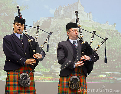Bagpipers Editorial Photo