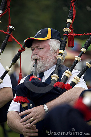 Bagpipes at the Highland Games in Scotland Editorial Image