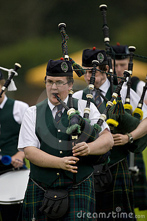Bagpipes -  Highland Games - Scotland Editorial Stock Image