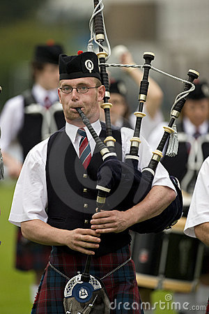 Bagpipes -  Highland Games - Scotland Editorial Photography