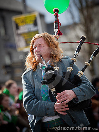 Bagpipes musician Editorial Stock Photo