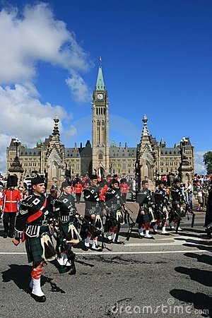 Bagpipes on Parliament Hill Editorial Stock Image