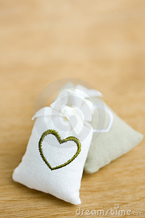 Bags with heart symbol