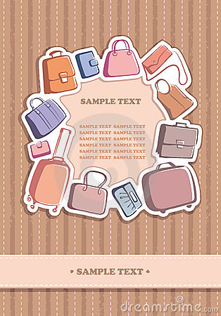 Bags and suitcases background