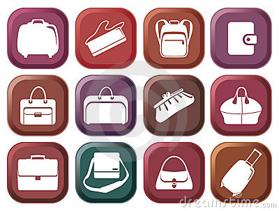 Bags and suitcases buttons