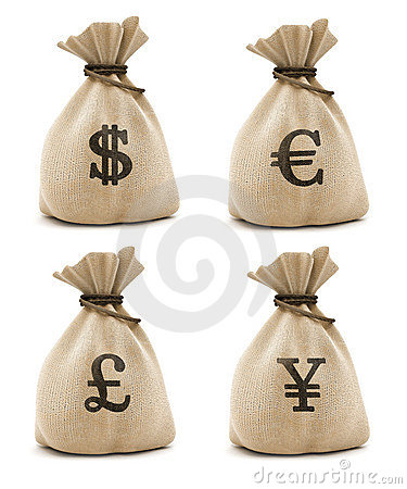 Free Bags With Money Royalty Free Stock Photo - 2699315