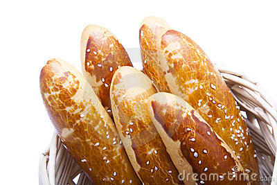 baguette in basket