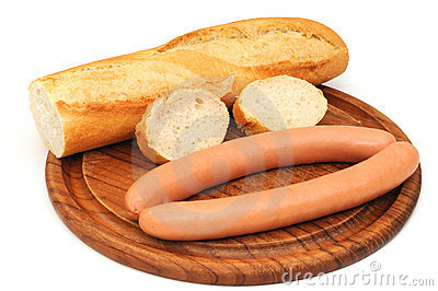 Baguette with wieners