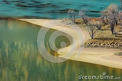 Bahía del dragón que se agacha en Kanas