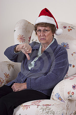 Bah Humbug Mature Senior Woman No Christmas Spirit
