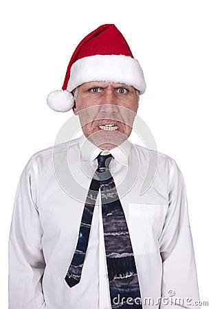 Bah Humbug Mean Man, Christmas Santa Hat