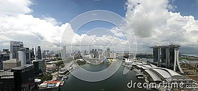 Bahía del puerto deportivo de Singapur Fotografía editorial