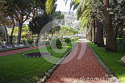 Baha i garden in Haifa, Israel.