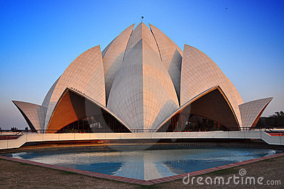 Bahai lotus temple , New Delhi, India