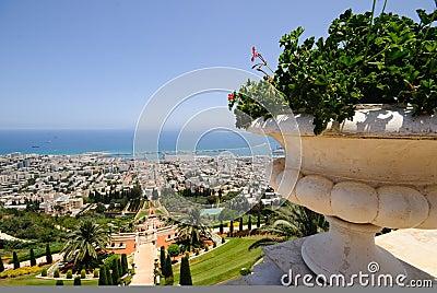 The Bahai Temple Gardens in Haifa