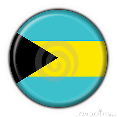 Bahamas button flag round shape