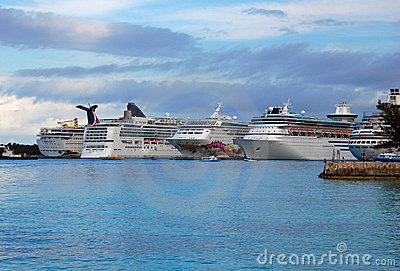 Bahamas Cruise Ships at Port
