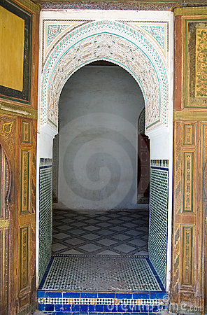 Bahia Palace Marrakesh door