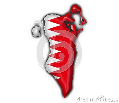Bahrain button flag map shape