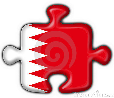 Bahrain button flag puzzle shape