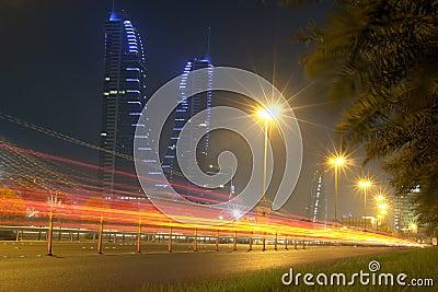 Bahrain Financial Harbour - night scene