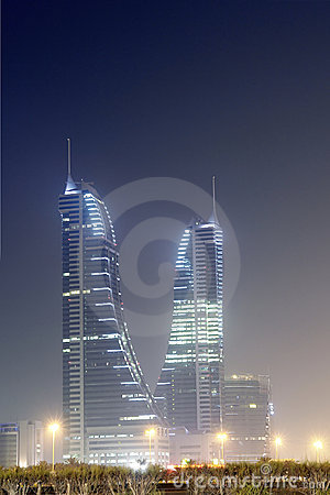 Bahrain Financial Harbour - night scene