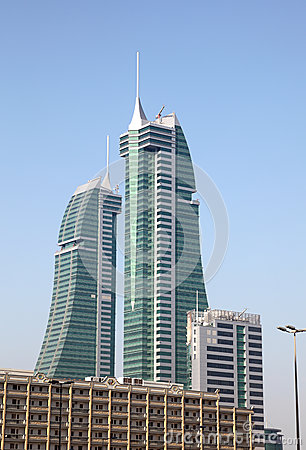 Bahrain Financial Harbour skyscrapers in Manama