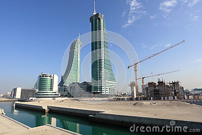 Bahrain Financial Harbour Skyscrapers in Manama Editorial Photo