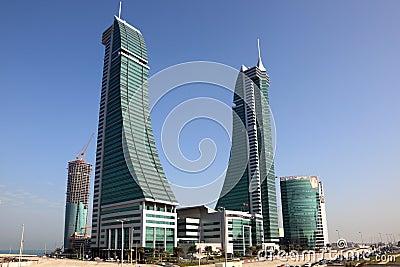 Bahrain Financial Harbour Skyscrapers in Manama Editorial Stock Image