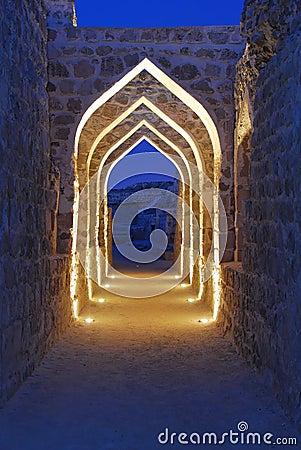 Bahrain Fort at Dusk 2