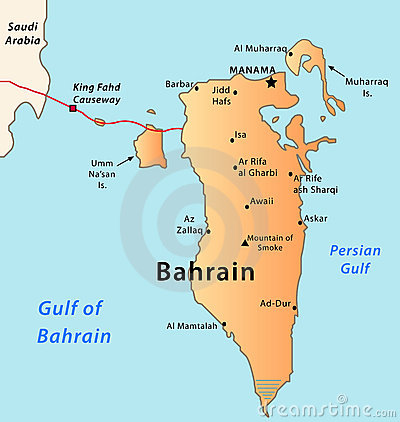 Bahrain map