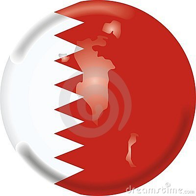 Bahrain map and flag