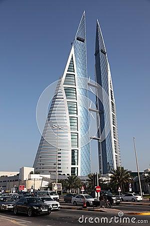 Bahrain World Trade Center Skyscraper Editorial Stock Photo