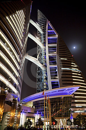 Bahrain World Trade Centre at Night, Bahrain