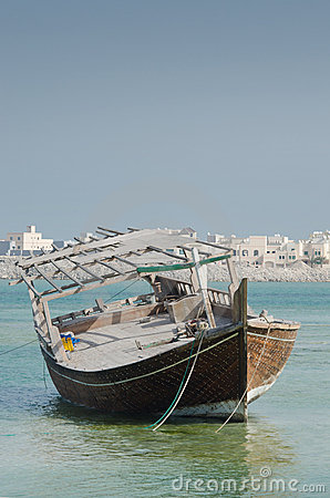 Bahraini old fishing boat
